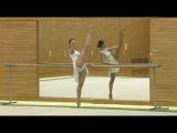 Занятия гимнастикой с Алиной Кабаевой